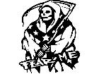 Grim Reaper Rebel Decal