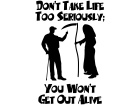 Grim Reaper Serious Life Decal
