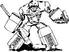 Hockey Goalie M B 1 Decal