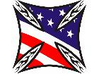 Iron Cross American Flag C L 1 Decal