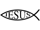 Jesus Fish Word 2 Decal