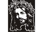 Jesus Sad Crown Thorns Decal