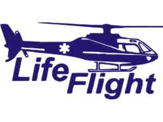 Life Flight Medical Decal Proportional
