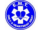 Medical E M Theartbeat Decal