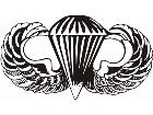 Military Airborn Parachute Decal