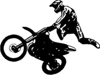 Motorcycle Dirtbike Rider Decal Proportional