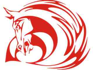 Mustang Horse Tribal 0 8_ A F 1 Decal Proportional