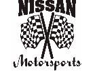 Nissan Motorsports Checker Decal