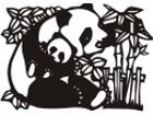 Panda Bears Design 1 Decal