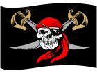 Pirate Flag Skull Bandana C L 1 Decal