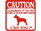 Pitbull Caution Fence Decal
