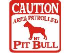 Pitbull Caution Patrol Decal