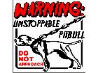 Pitbull Unstoppable S G 1 Decal