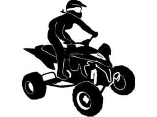 Quad Motorcycle B M X_ 4 0 Decal Proportional