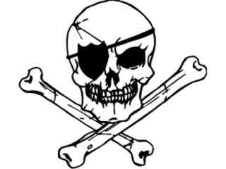 Raiders Skull Eye Patch_ S P T Decal Proportional