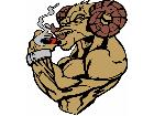 Ram Dodge Muscle Man Smoker G D 1 Decal