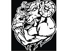 Ram Dodge Muscle Man Smoker Decal