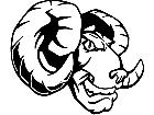 Ram Head 2 M B 1 Decal