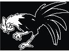 Rooster Down Decal