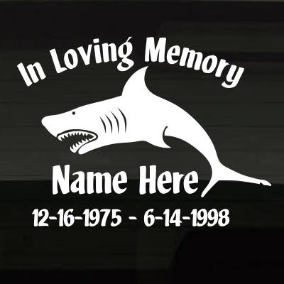 SharkSeaFishing_9O0C7 In Loving Memory Decal Main Image