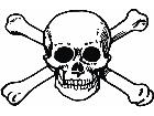 Skull Crossbones 0 5 Decal