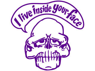 Skull Live Inside Face Decal Proportional