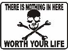 Skull Not Worth Life Decal
