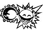 Sun Moon Cool Decal
