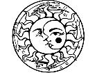 Sun Moon Glare Decal
