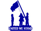 United We Stand Firemen Decal