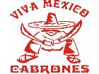 Viva Mexico Cabrones Decal