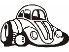 Volks Wagen Bug Hotrod Decal