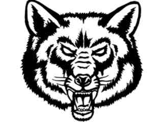 Wolf Fox Head_ M B 1 Decal Proportional