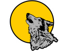Wolf Howling Sun C L 1 Decal