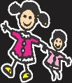 Girls Family Sticker
