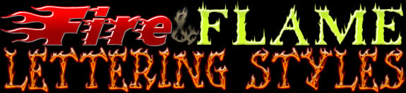 Hot Flames Fire Lettering