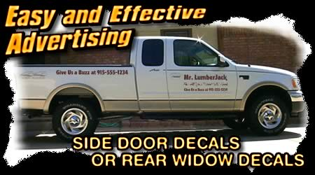 truck door decals