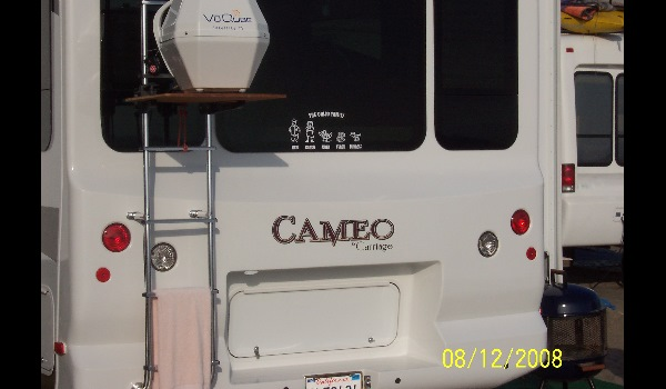 family sticker on an rv motorhome