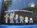 The Coons's custom vinyl sticker project
