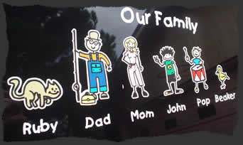 Family DecalsFamily Stickers Design Your Unique Stick Family - Unique family car decals
