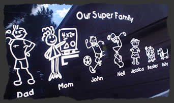 Family DecalsFamily Stickers Design Your Unique Stick Family - Personalised car window stickers