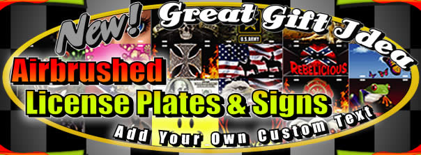 Get your cool airbrushed license plates