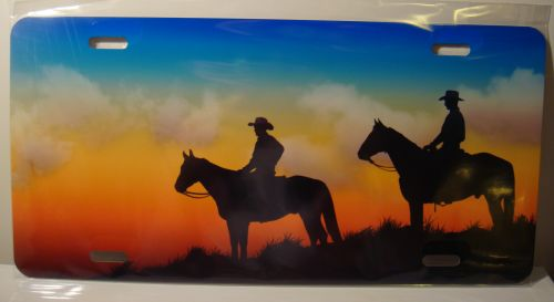 Cowboy Sunrise Country Horse Team license plate