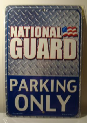 National Guared Parking Only license plate