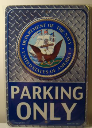 Department Of The Navy Parking Only  license plate