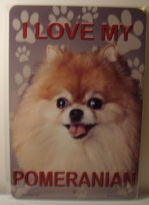 I Love My Pomeranian Dog license plate
