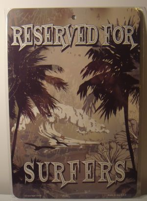 Reserved For Surfers Waves Palms Fun license plate