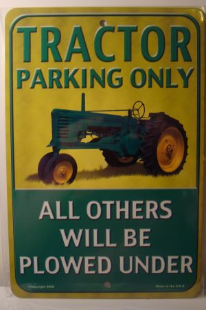 Tractor Parking Only All Others Will Be Plowed Under  license plate