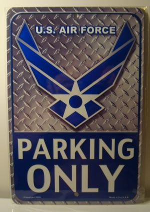 U.S. Air Force Parking Only license plate