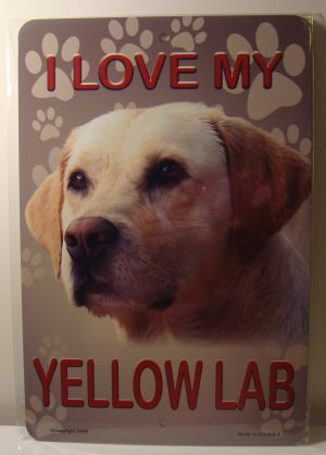 I Love My Yellow Lab Dog Puppy license plate